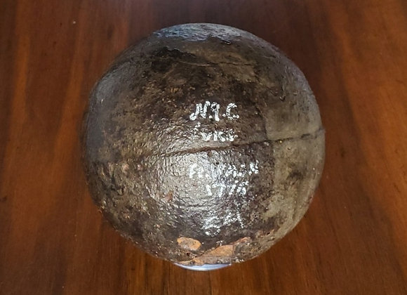 American 9 lb Cannon Ball from Fort Washington, New York City Rare