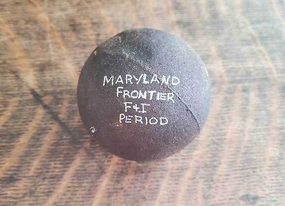 French and Indian War 4 lb Cannon Ball Dug on Maryland Frontier