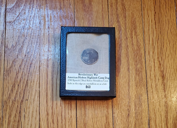 Revolutionary War dug silver coin from an American camp