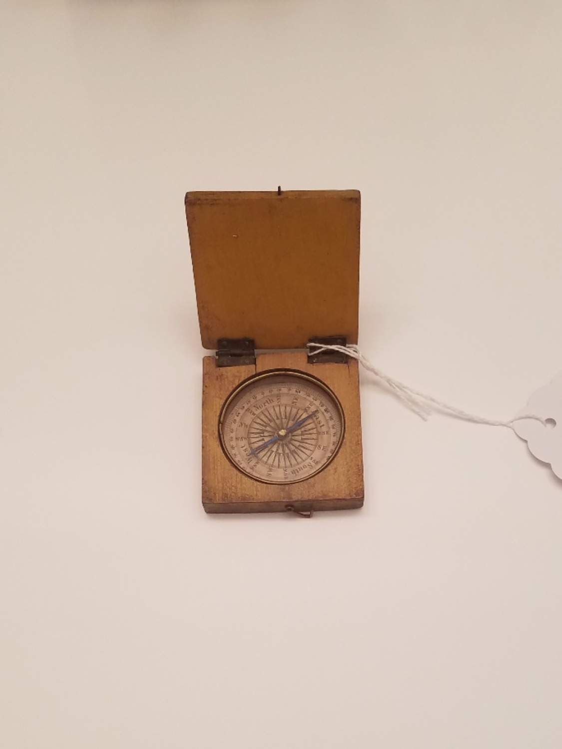 18th c. Paper Faced Wooden Compass revolutionary war