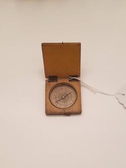 18th c. Paper Faced Wooden Compass revolutionary war