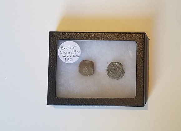 Battle of Stono Ferry Fired Musket Ball and Button in Case