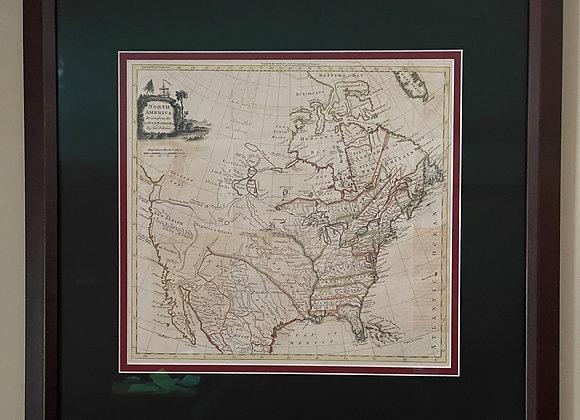 Map of Revolutionary War American c. 1770