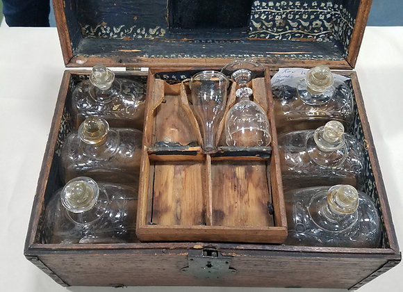 Late 18th C. Officer's Portable Liquor Cabinet or Cellarette