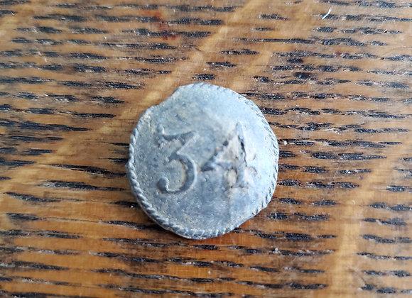 Revolutionary War British 34th Regiment Button