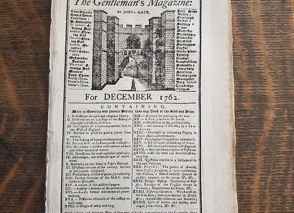 French and Indian War Treaty Reported in Dec. 1762 Magazine incl. Supplement
