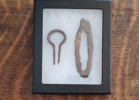 Revolutionary War Flint Striker and Jaw Harp from Cary's Fort South Carolina