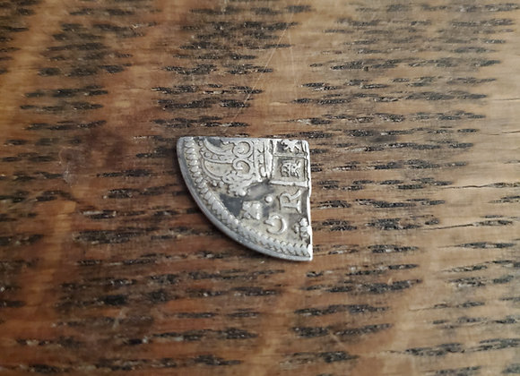 Early 18th c. Cut Spanish Piece of 8or Reale or Pirate Coin(1722?)