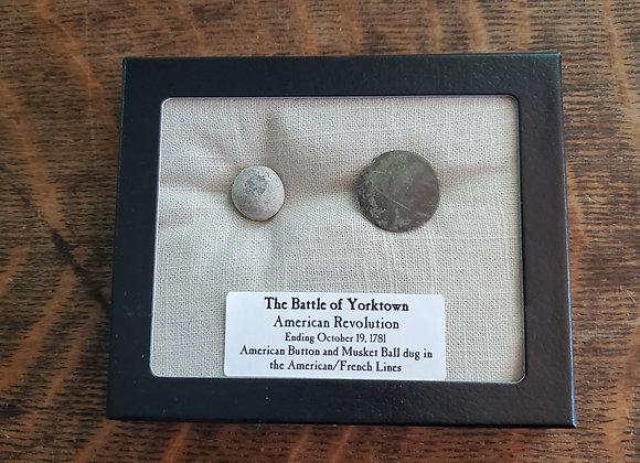 Revolutionary War Battle of Yorktown Musket Ball and Button