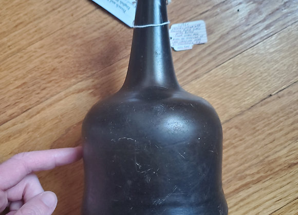 French and Indian war era English wine bottle dug Ft. Ticondeoga