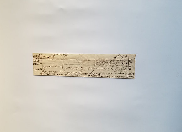 Aug. 1775, Seige of Boston, Dr. John Green, signed receipt for soldiers care