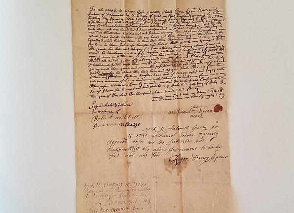 1740, Falmouth, Maine, Lt. Nathaniel Jordan land sale, Colonel Jeremiah Moulton