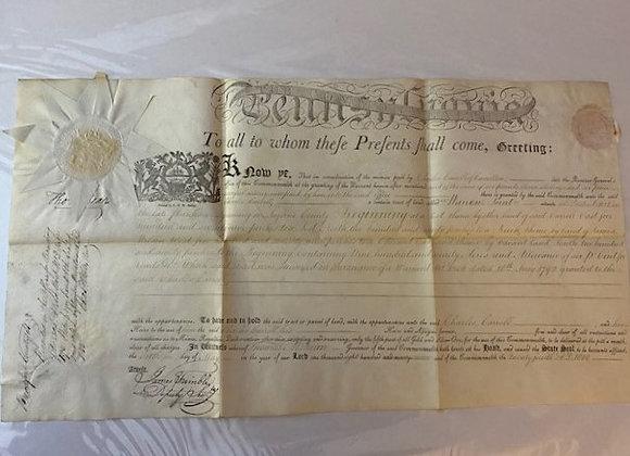 Declaration of Independence Signer Signed Land Transfer
