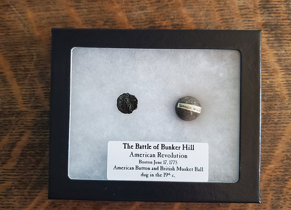 Revolutionary War Battle of Bunker Hill Musket Ball Set Extremely Rare