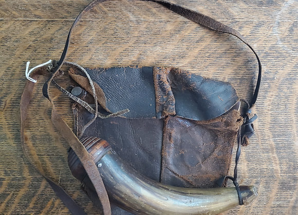 French and Indian War to Revolutionary War era Hunting Bag and Horn