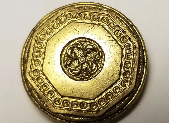 Revolutionary War British Admiral's Repousse Gilt button