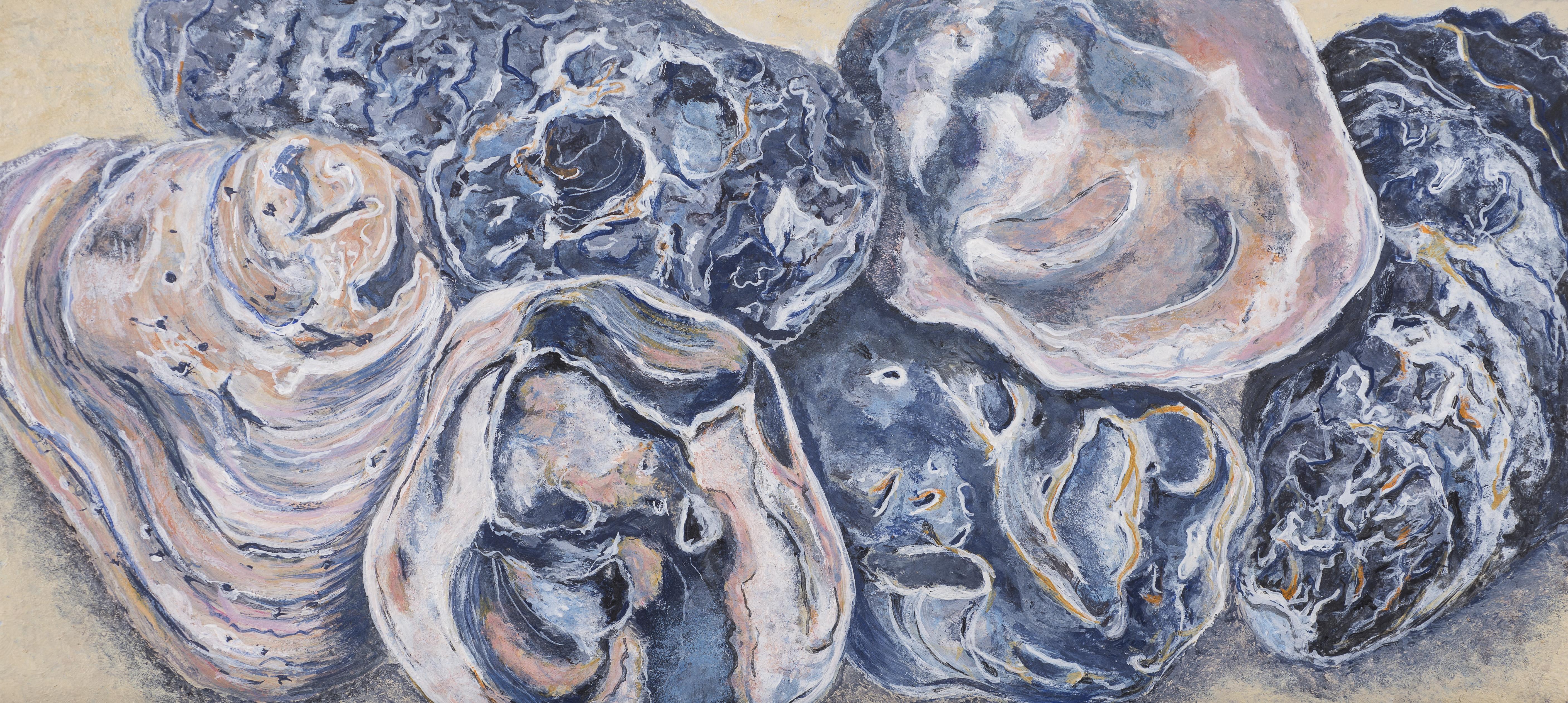 Ostrea III  (oesters)  10x22 cm