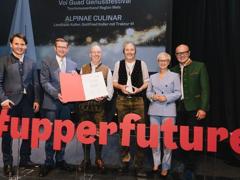 """""""NOTOS"""", der oö Tourismuspreis 2021 für die ALPINAE-CULINAR"""