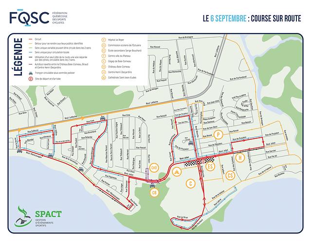 GSPA - Cartes-route-Championnat quebecoi