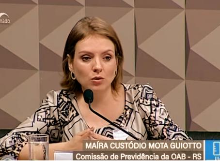 Participação da Dra. Maíra Mota Guiotto na CDH do Senado Federal (12/08/2019)