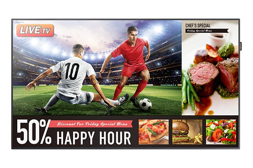 """Samsung 49"""" LED skjerm for Digital Skilting og TV."""