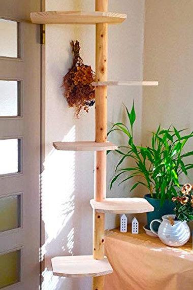 ワイルドキャットタワー シンプル (天井の高さ222-234センチ用) 既存のワイルドキャットタワーの 強度はそのままに装飾と仕上げを省いた廉価版ワイルドキャッ
