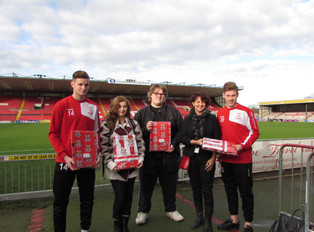 Lincoln City FC supply Young Homeless Charity LEAP with valuable bedding