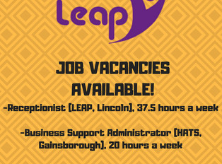 Job Vacancies Available at LEAP and HATS!