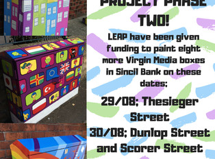Sincil Bank Art Project Phase Two Dates CONFIRMED!
