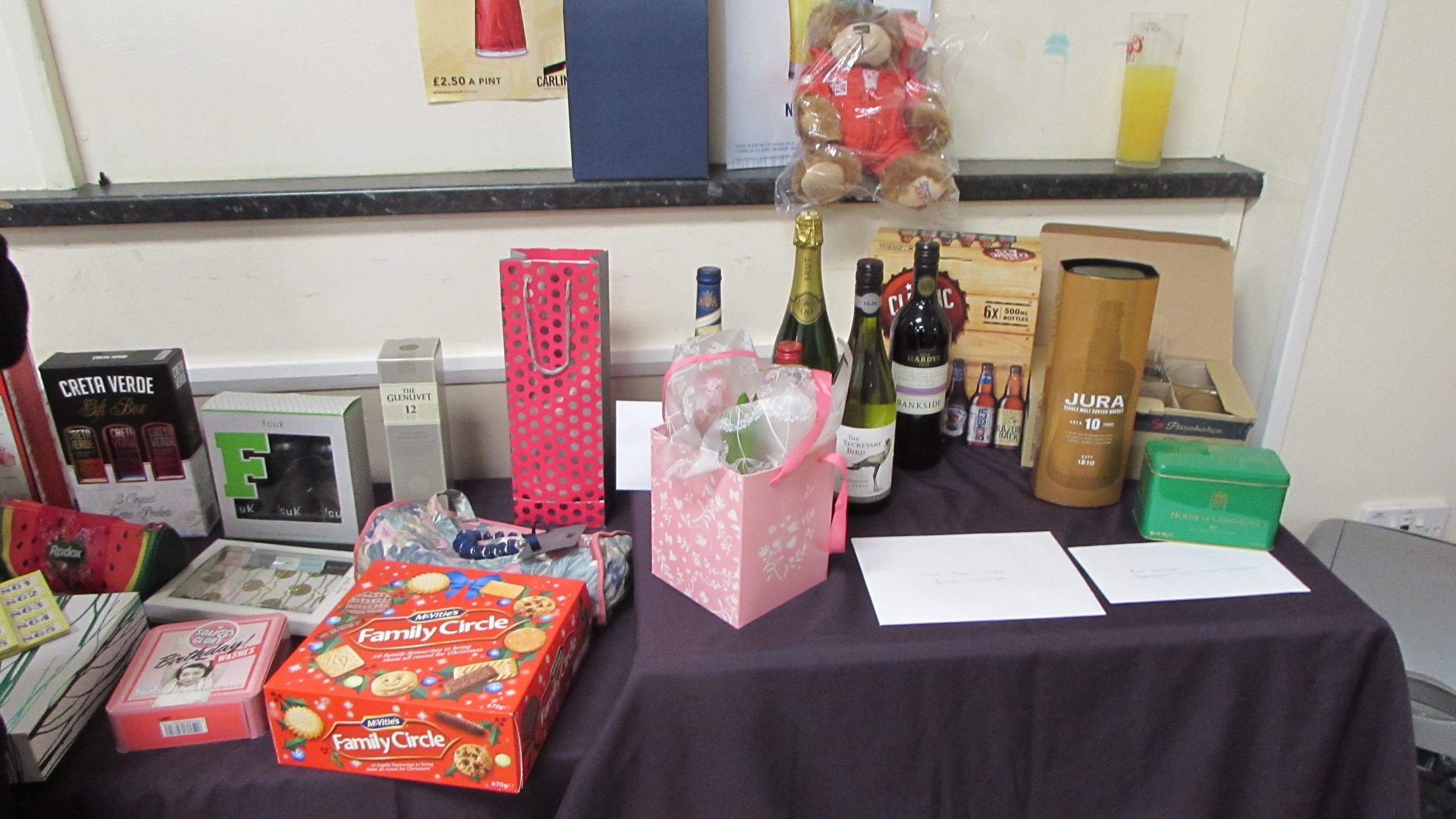 A Sample of Raffle Prizes