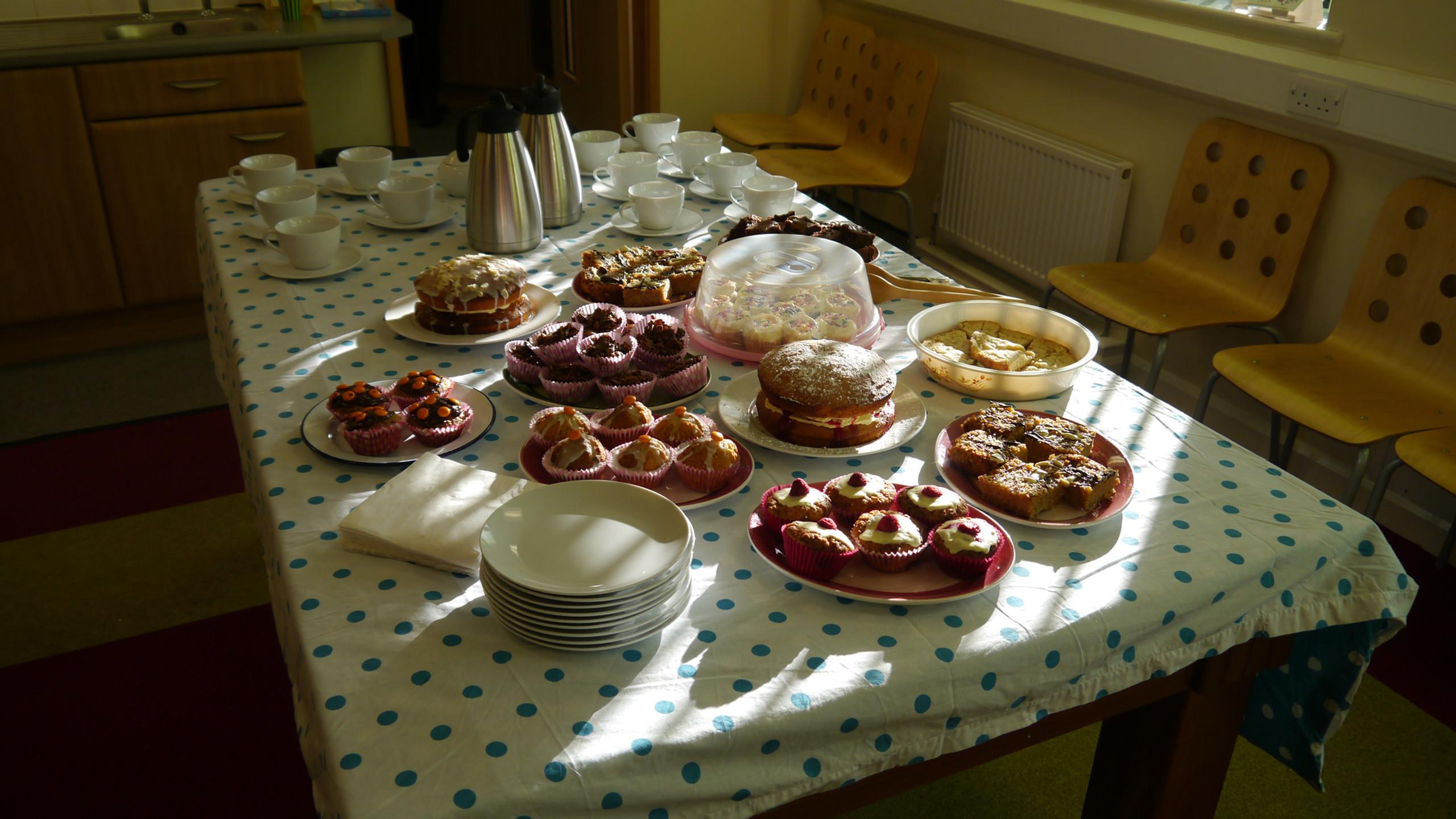 Cake morning for Children In Need