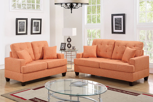 Delight In This 2 Piece Sofa Set Featuring Plush Pillow Seat And Back  Cushions Topped With Accent Tufting. This Square Structure Includes Vibrant  Select ...