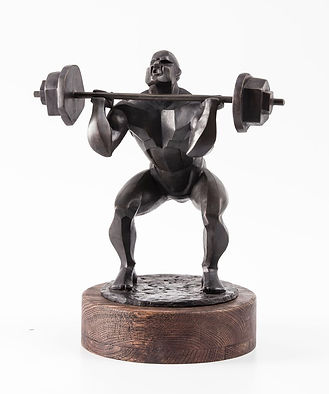 Irina Lagoshina weightlifter bronze sculpture