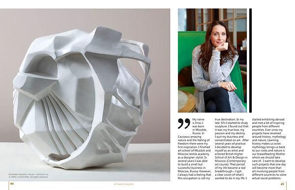 Art Market Magazine, Irina Lagoshina, artist interview, russian sculpturer, art, russian art,Ирина Лагошина интервью, ИринаЛагошина
