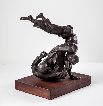 Irina Lagoshina Judo bronze sculpture
