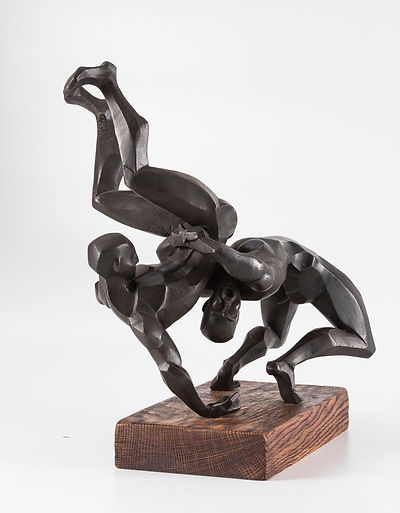 wrestlers bronze sculpture Irina Lagoshina