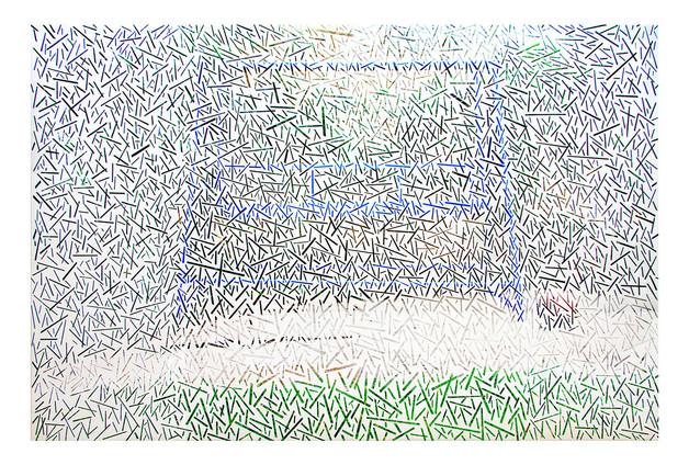Swing | Peeled Photograph | 95x105cm | 2014