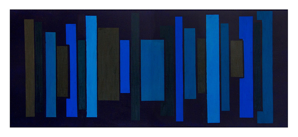 Untitled | Oil & Acrylic on Canvas | 40x100cm | 2017