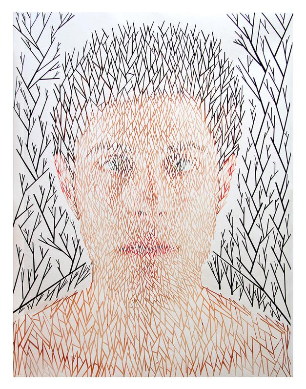 Self #1 | Peeled Photograph | 115x80cm | 2013
