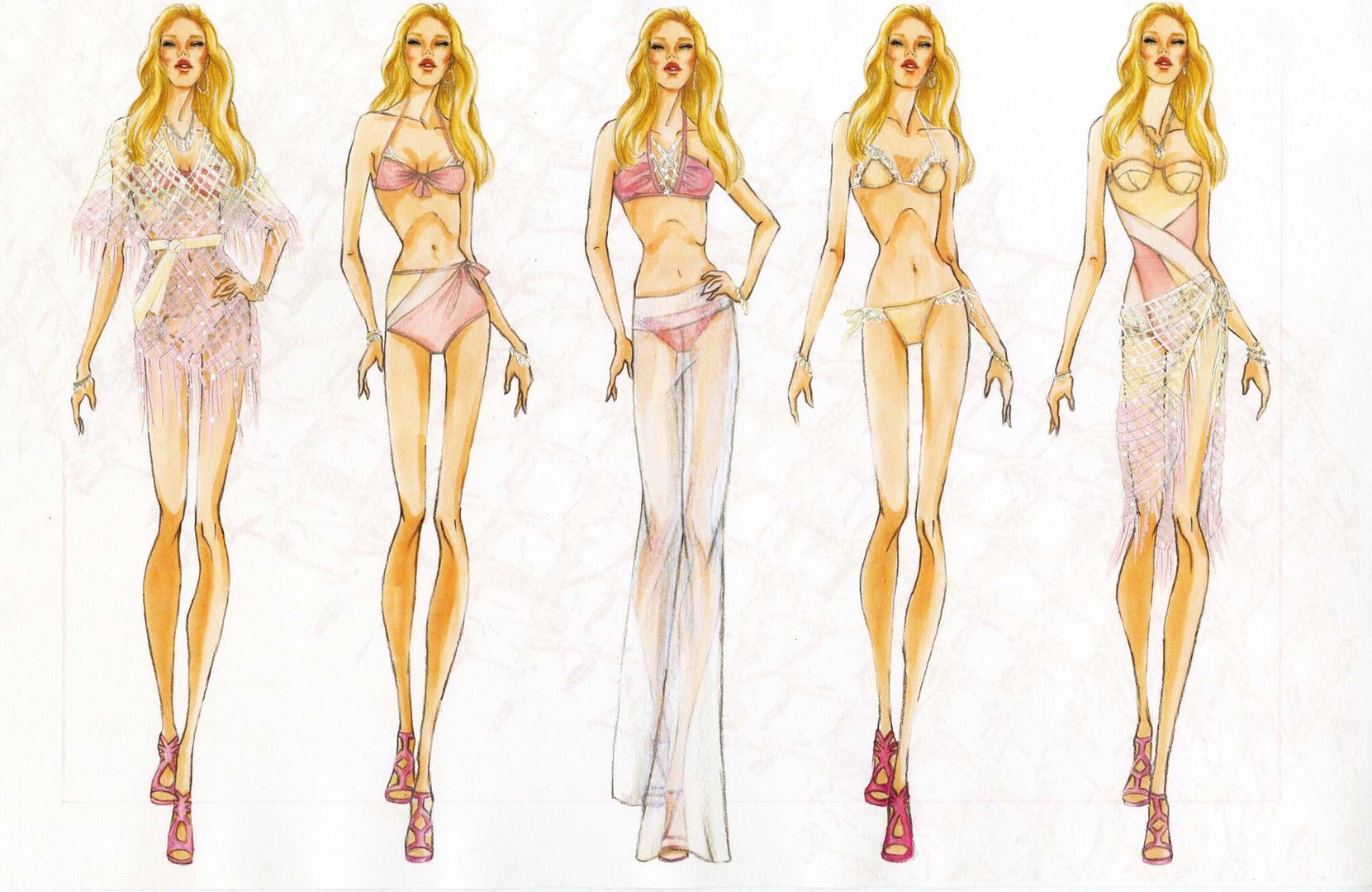 Noelle Garcia Swimwear Illustration