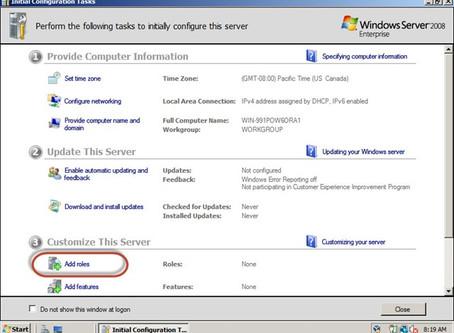 Windows Server 2008 – Como configurar um domínio