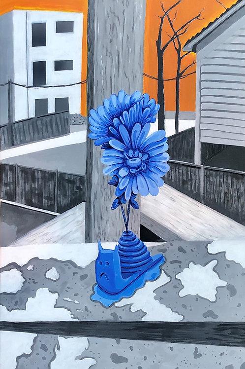 Blue Snail Print