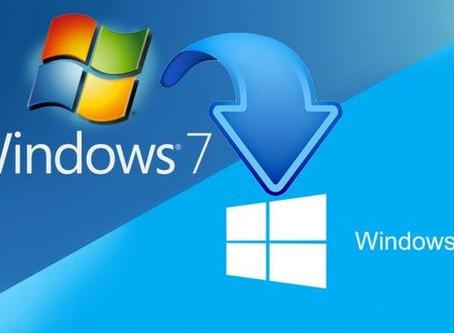 O suporte ao Windows 7 terminou em 14 de janeiro de 2020