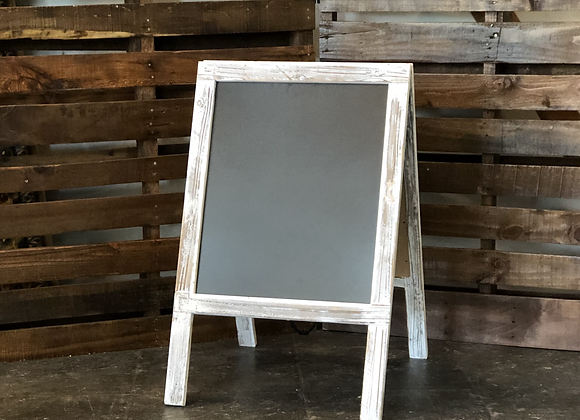 White Framed Chalkboard Sign