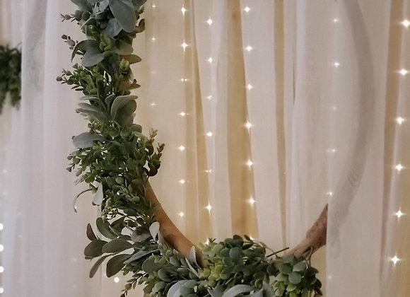 Wooden Hoop Eucalyptus Wreath