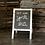 Thumbnail: White Framed Chalkboard Sign