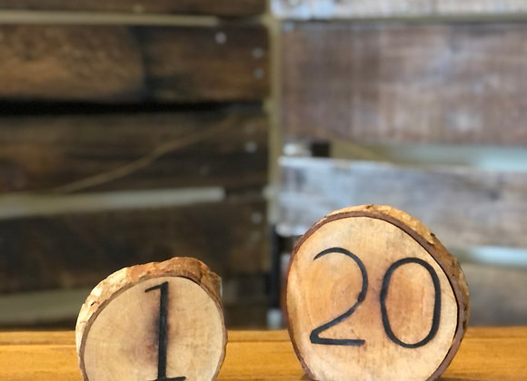 Wooden Numbers (1-20)