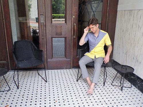 Vir-gule by Ndeed Regime Short Sleeve Extended Shirt