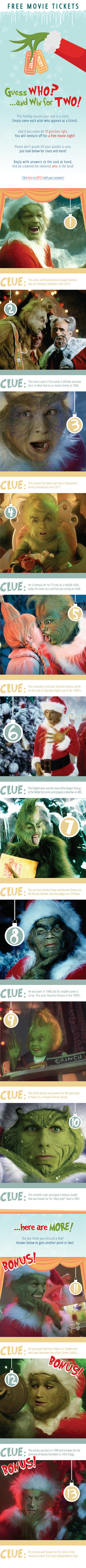 Can you guess who is the GRINCH?