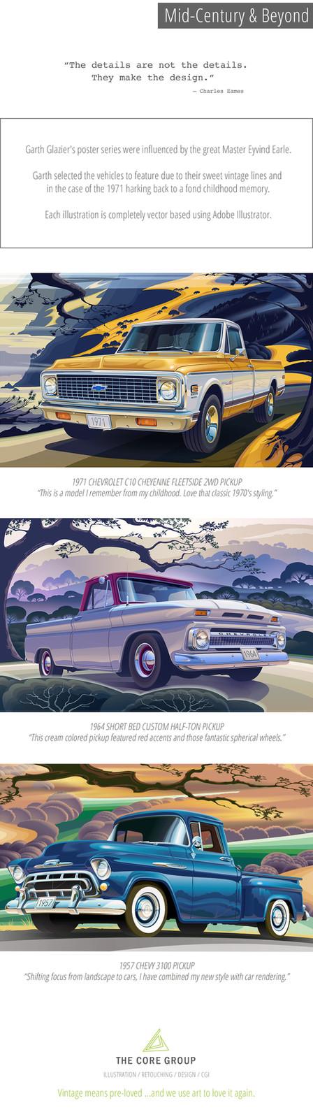 Vintage Truck Illustrations